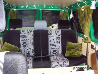 vw t4 wohnmobil vorh nge und kissen n hen. Black Bedroom Furniture Sets. Home Design Ideas